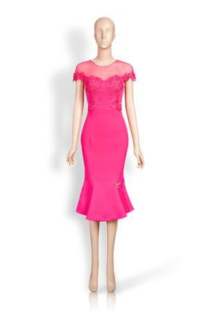 Phoenix V Carmel fishtail occasion dress