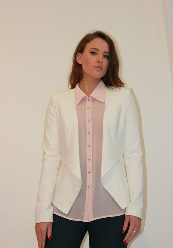 Model wearing Phoenix V Zoey jacket occasion wear, Dublin