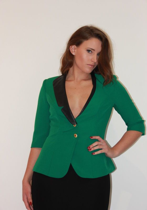 Model wearing Phoenix V Zurii jacket occasion wear