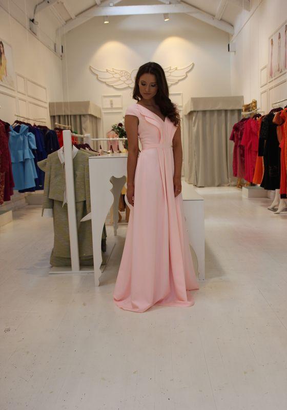 Model wearing Phoenix V Julia gown occasion wear