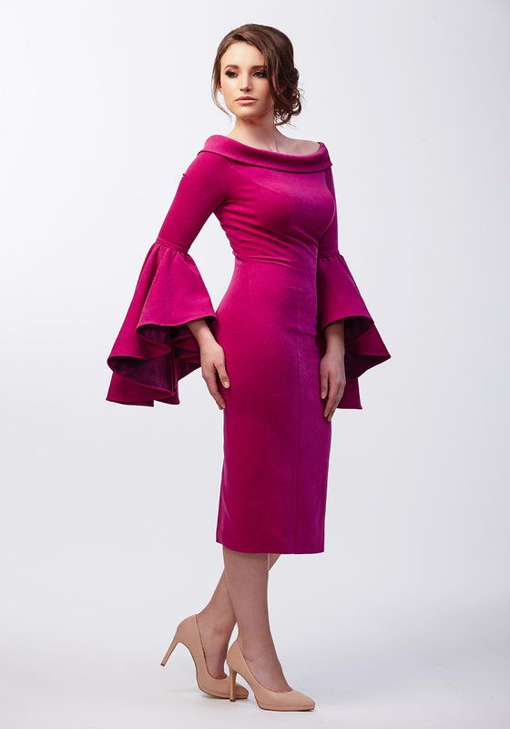 Model wearing Phoenix V Charlize pencil occasion dress, Dublin