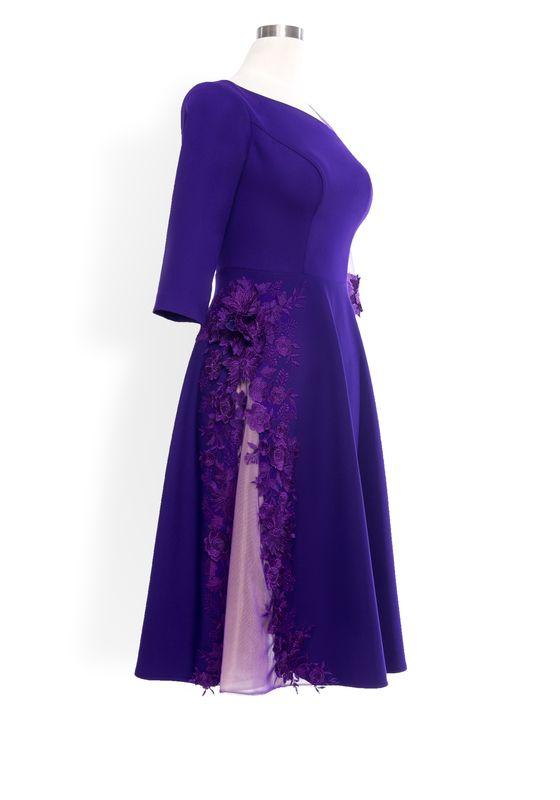 Phoenix V Fiana ALine occasion dress, side view