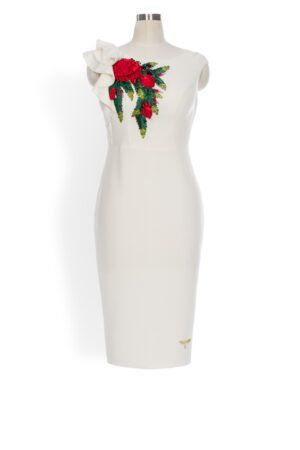 Phoenix V Hollya pencil occasion dress