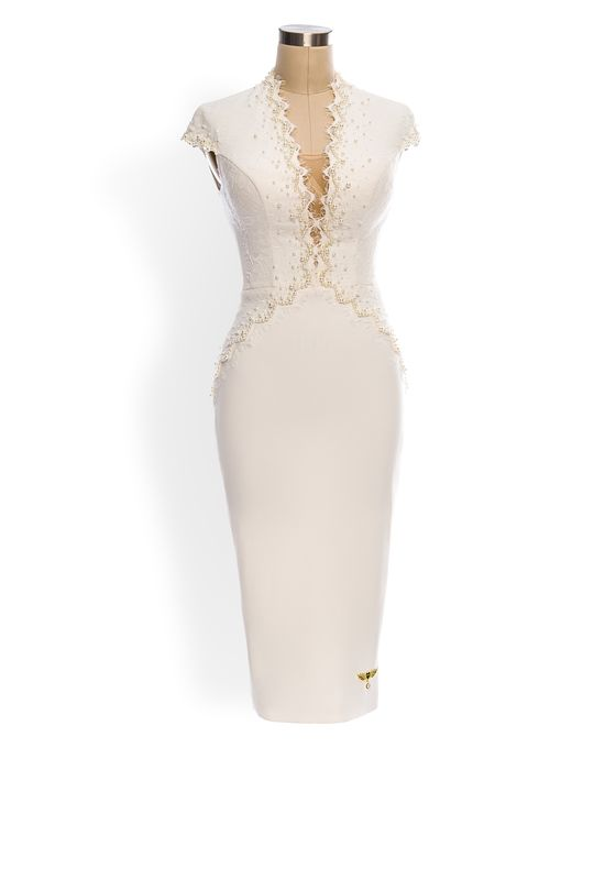 Phoenix V Hollyn pencil occasion dress
