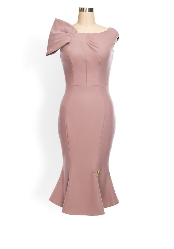 Phoenix V Orla fishtail occasion dress