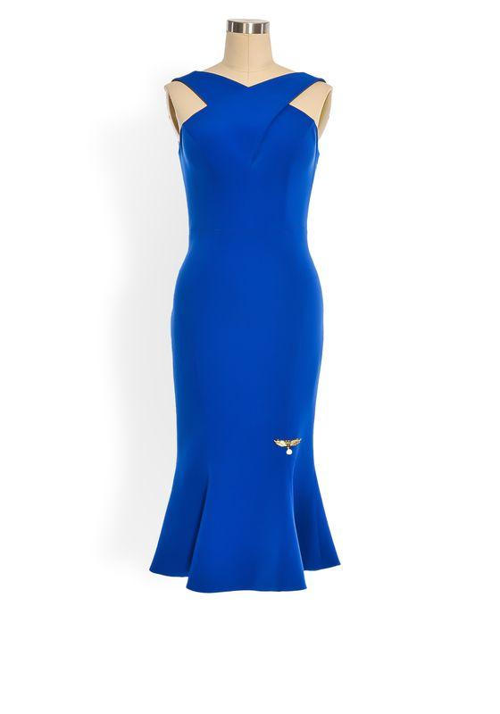 Phoenix V Bail fishtail occasion dress