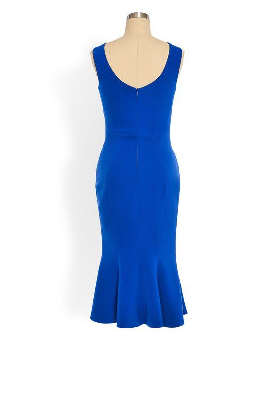 Phoenix V Bail fishtail occasion dress, rear view