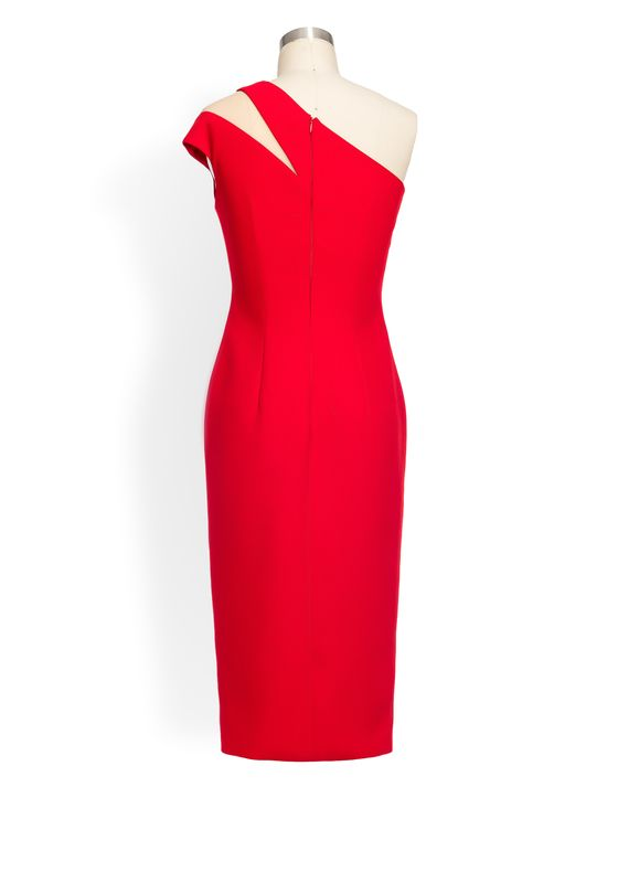 Phoenix V Delina pencil occasion dress, rear view