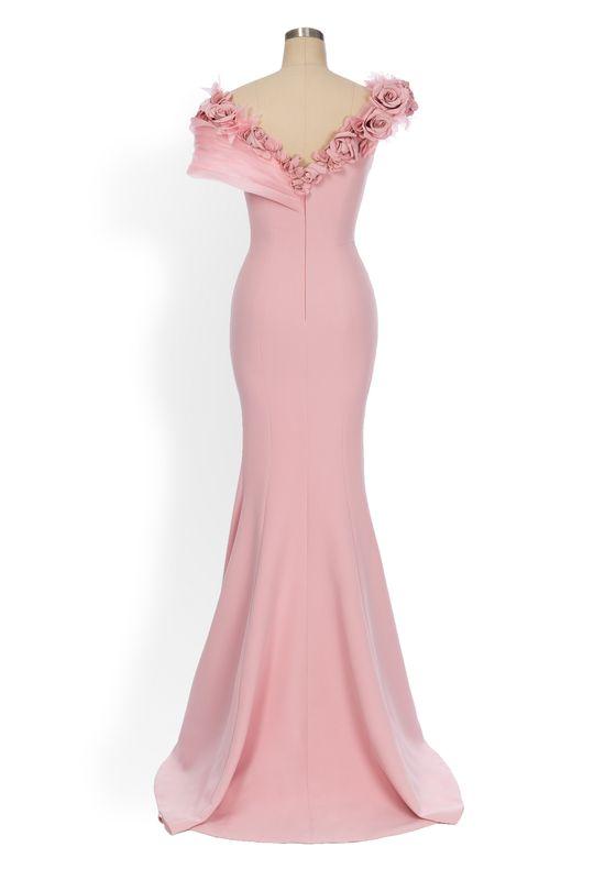 Phoenix V Joya gown occasion dress, rear view