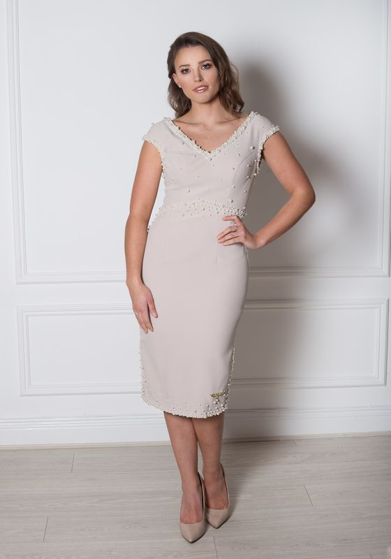 Phoenix V Karessa pencil occasion dress