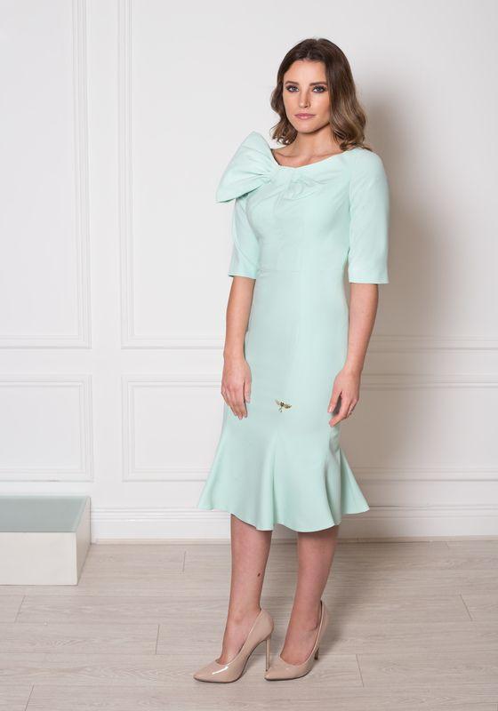 Model wearing Phoenix V Izabella fishtail occasion dress, Dublin