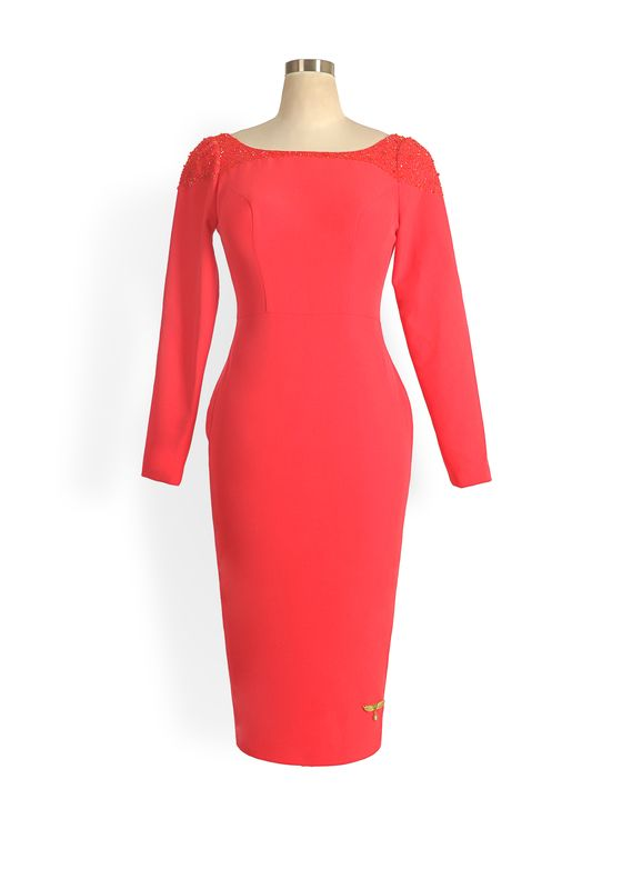 Phoenix V Quin pencil occasion dress