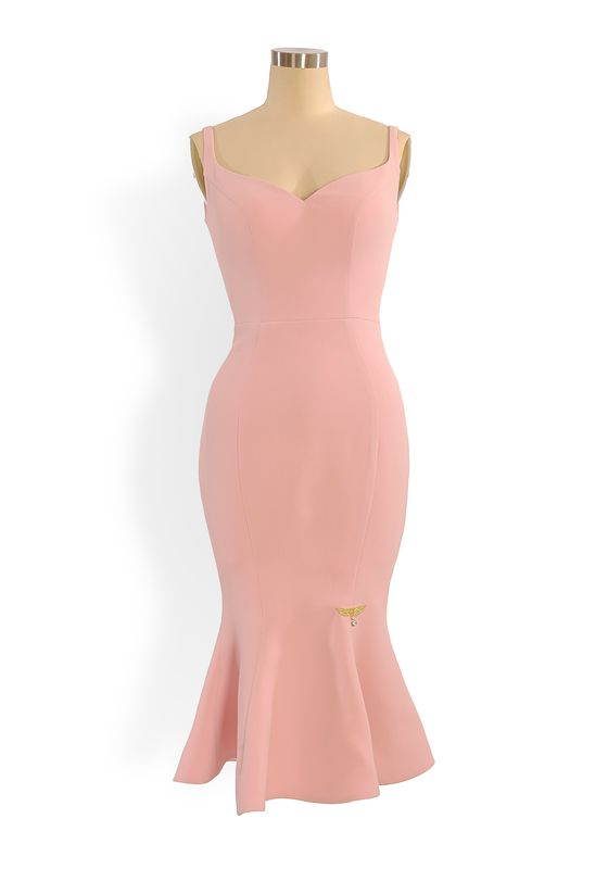 Phoenix V Josep fishtail occasion dress