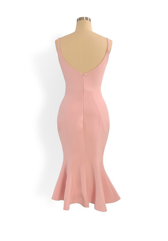 Phoenix V Josep fishtail occasion dress, rear view