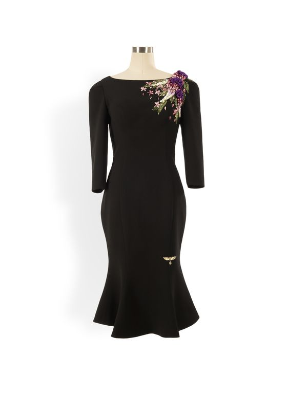 Phoenix V Geena fishtail occasion dress