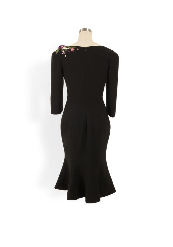 Phoenix V Geena fishtail occasion dress, rear view