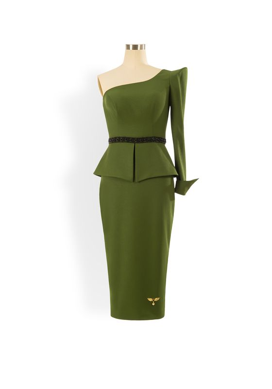 Phoenix V Jin pencil occasion dress