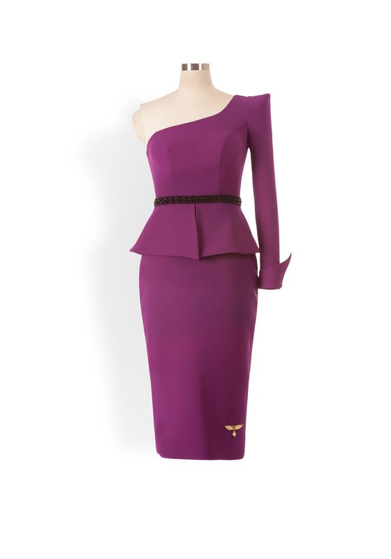 Phoenix V Foxy pencil occasion dress