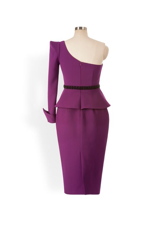 Phoenix V Foxy pencil occasion dress, rear view