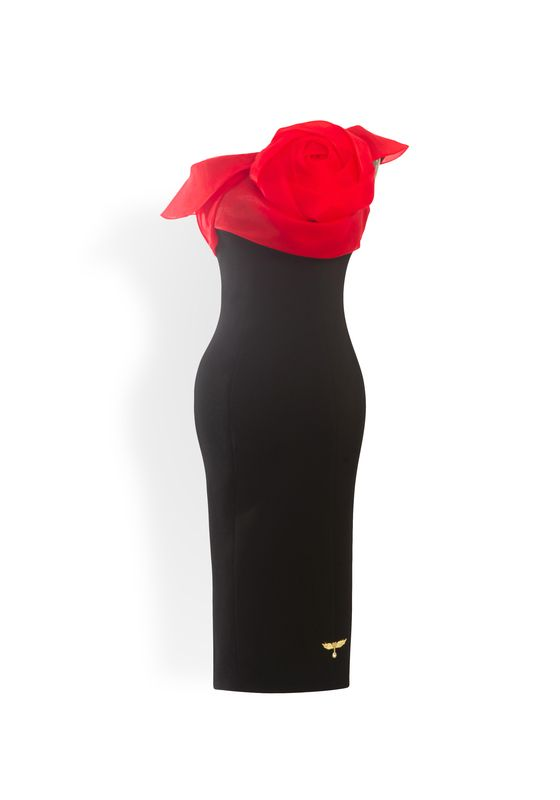 Phoenix V Gry pencil occasion dress