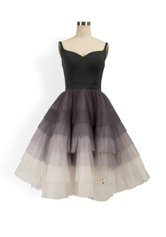 Grey sweetheart ombre layered tulle tutu dress