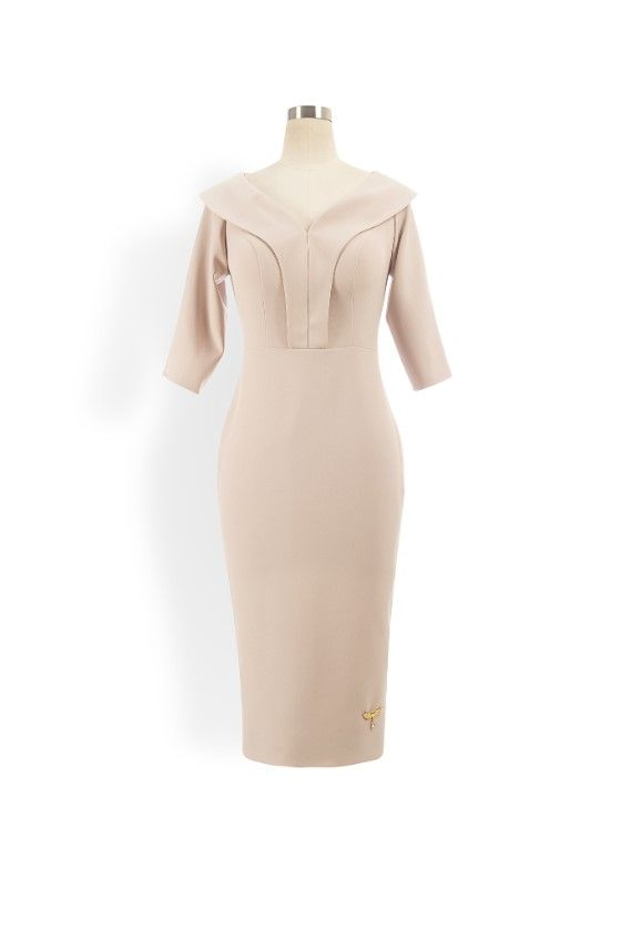 Phoenix V Kisha pencil occasion dress