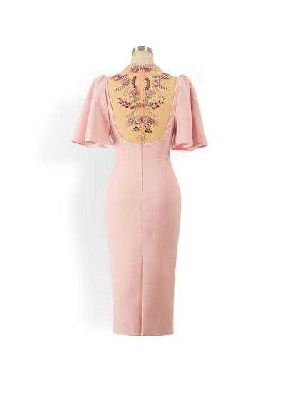Phoenix V Aulita pencil occasion dress, rear view