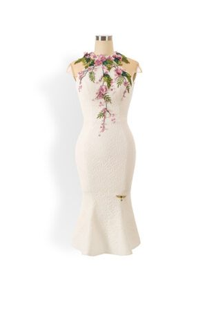 Phoenix V Haddie fishtail occasion dress