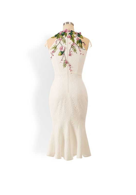 Phoenix V Haddie fishtail occasion dress, rear view