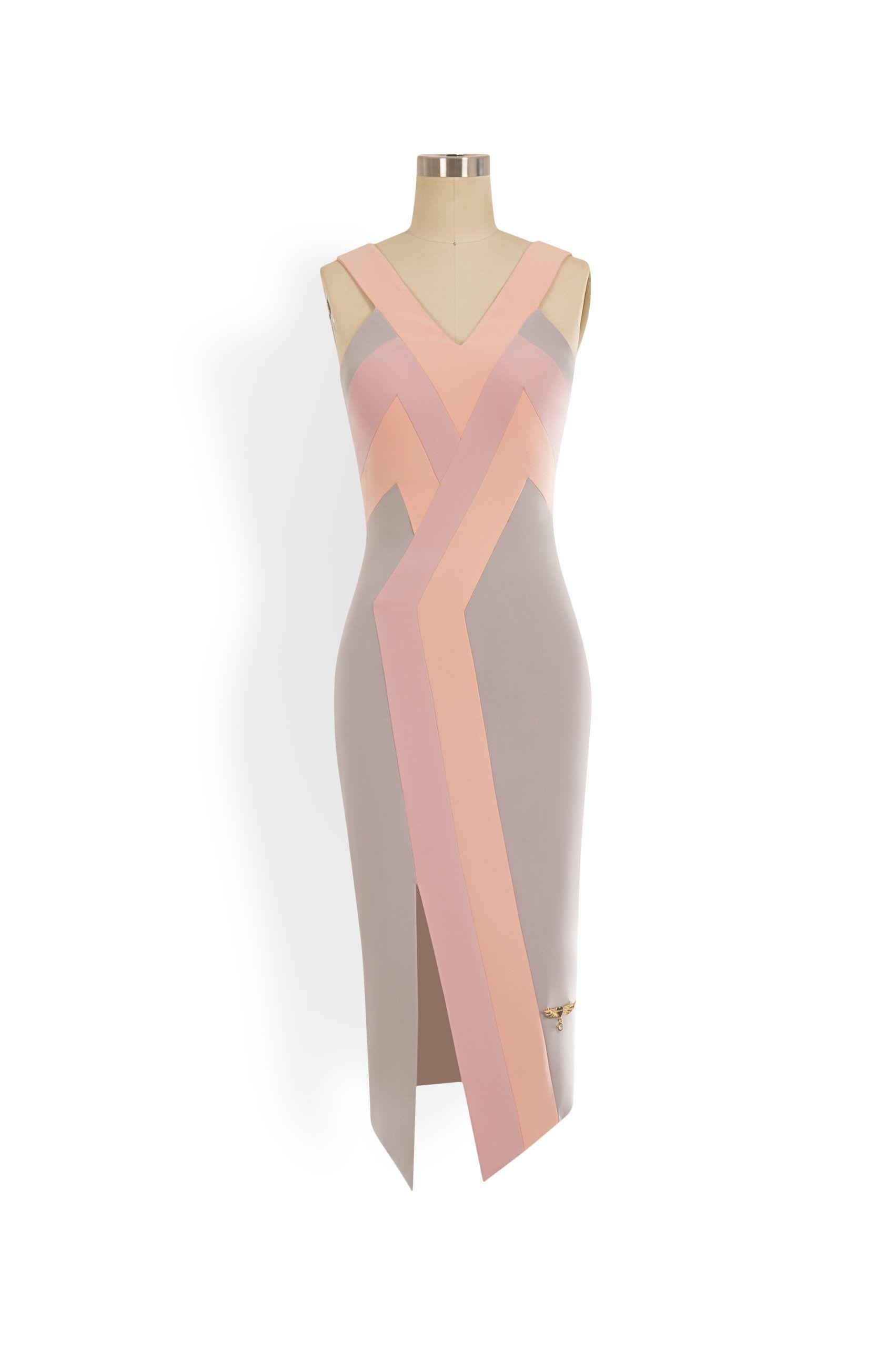 Phoenix V Kaati pencil occasion dress