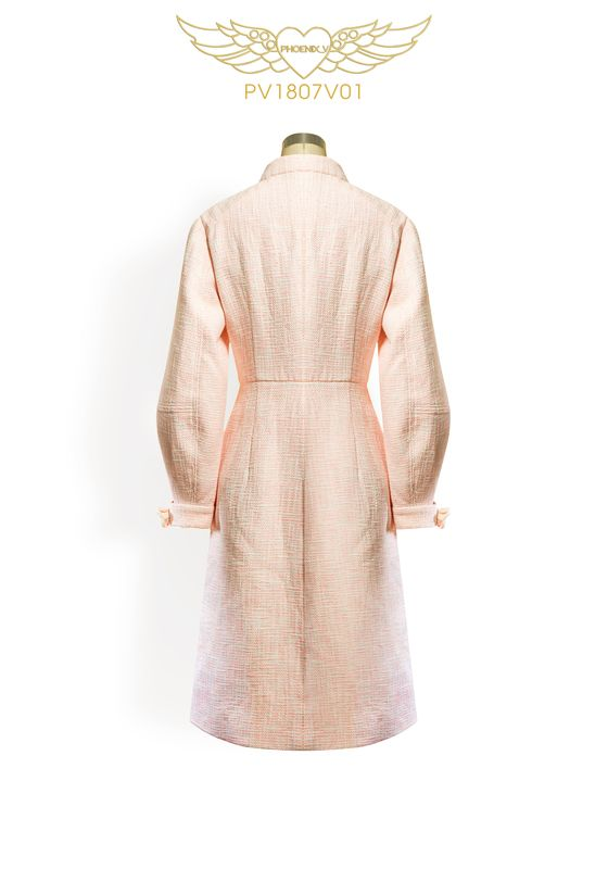 Phoenix V Auxa coat occasion wear, rear view