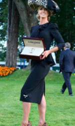 Ava Hayes - winning best dressed Lady in the Leopardstown