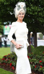 Ava Hayes - winning best dressed Lady in the Curragh