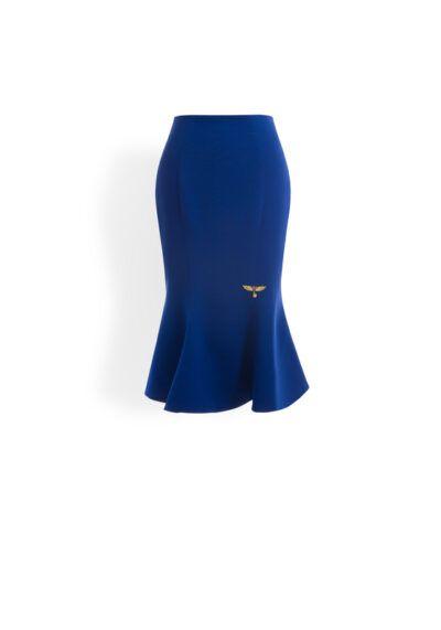 Cobalt blue fishtail skirt
