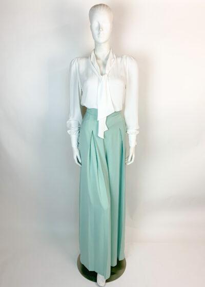 Sage green palazzo trousers